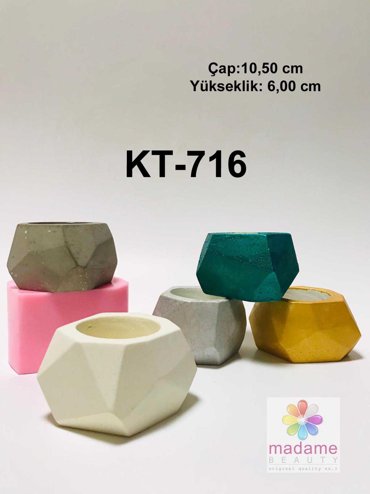 Geometrik Saksi Silikon Kokulu Tas Kalibi Kt 716 Ankara Hobi Market